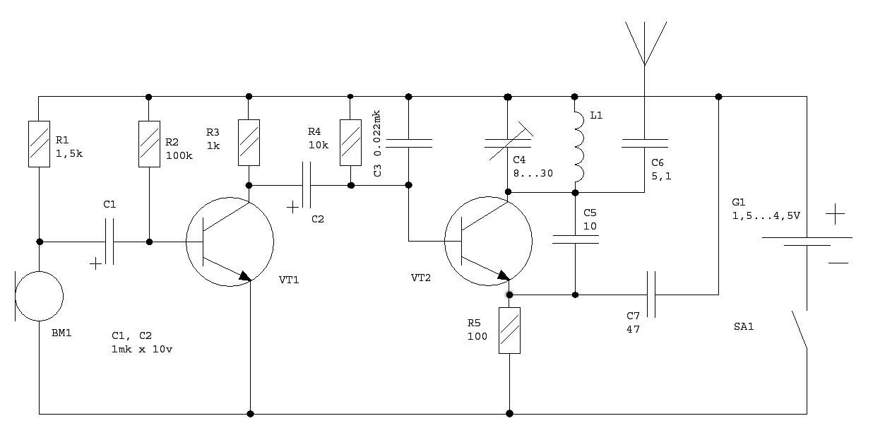 Схемы жучков на 3 вольта